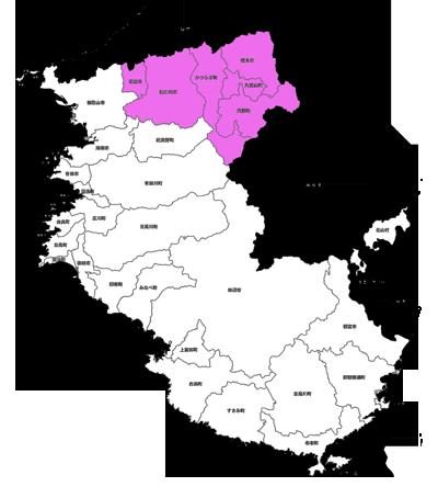 紀北地区白地図